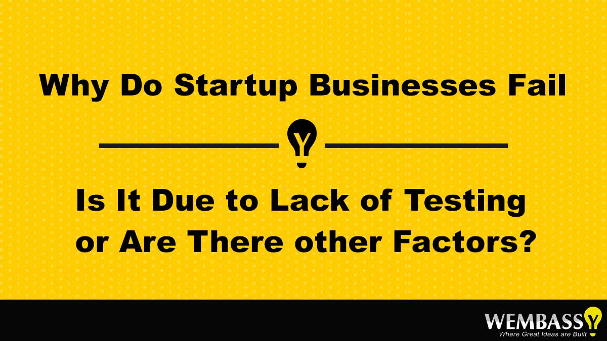 Why do startup business fail